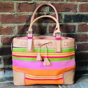 Franklin Covey Bright Colored Tan Handbag Totes